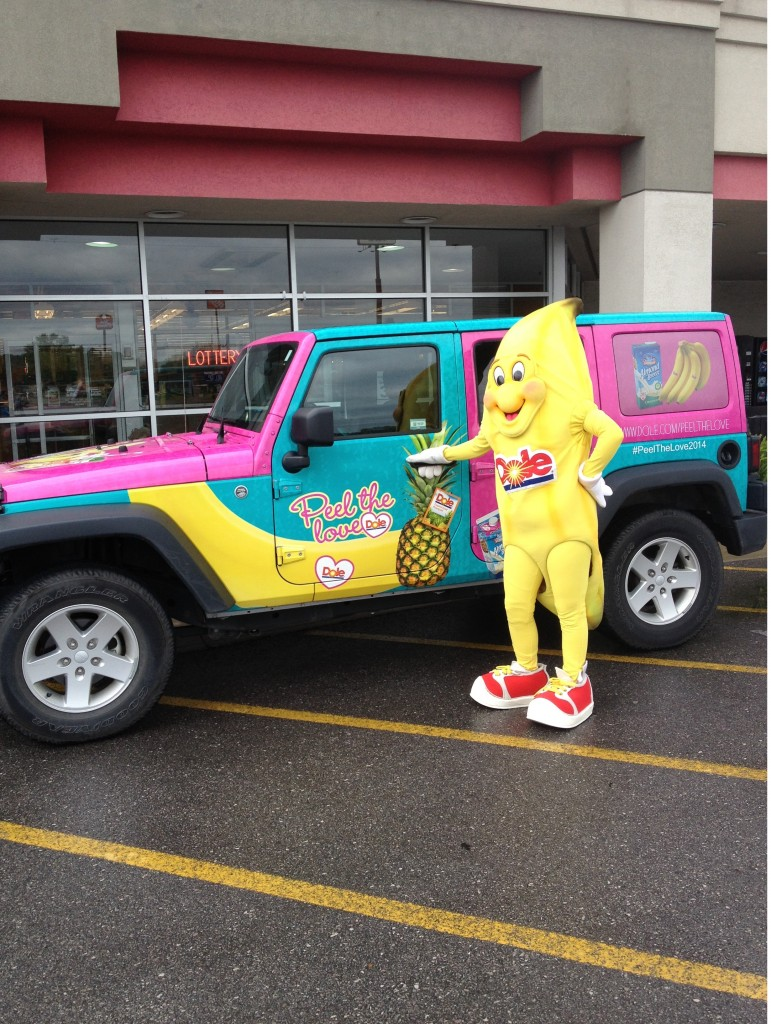 Bobbie Banana with the PTL Jeep