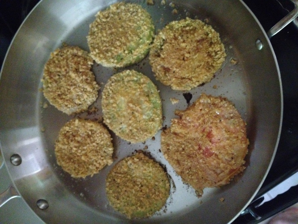 Flaxseed Fried green tomatoes4