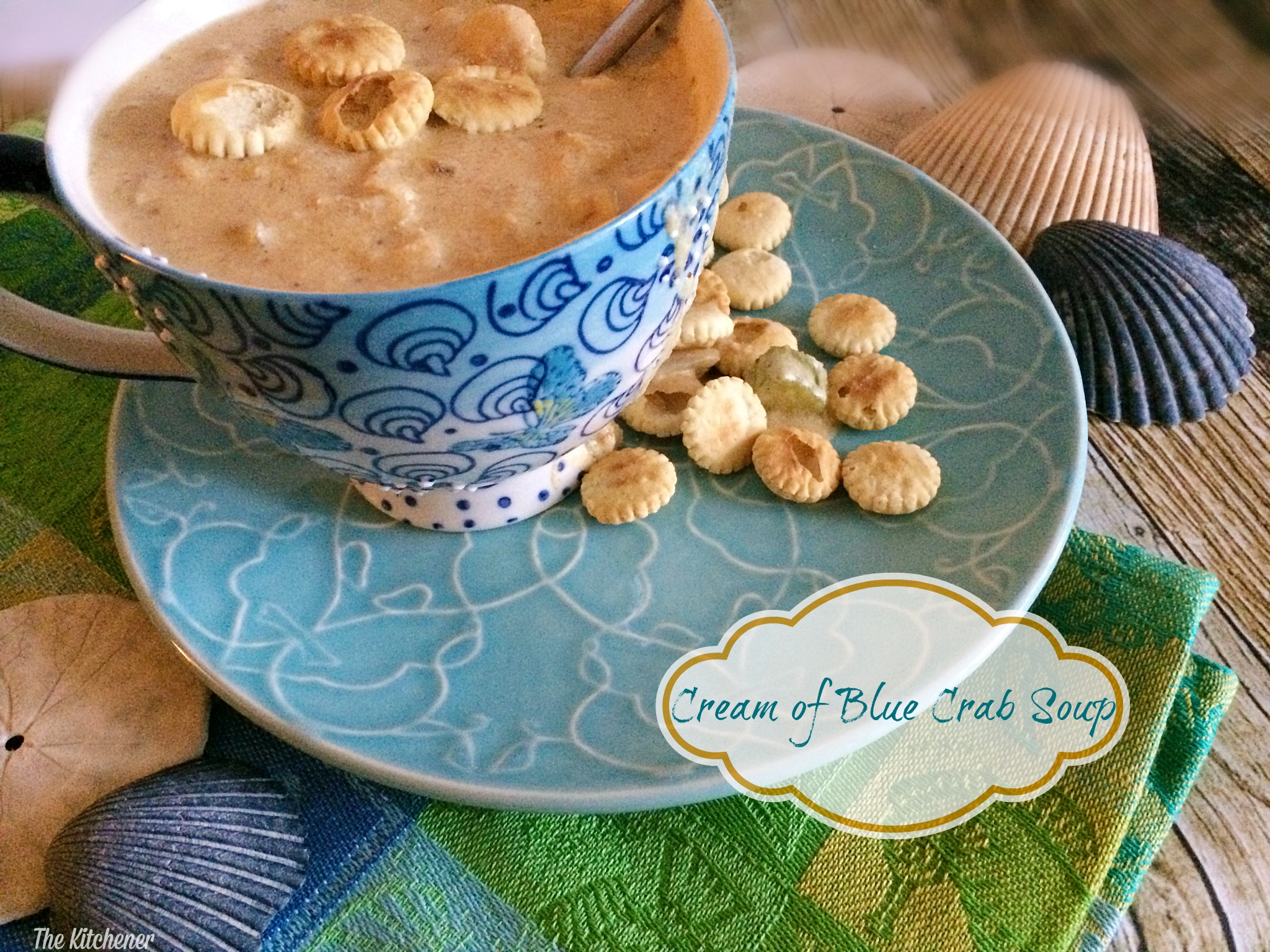 Cream of blue crab soup