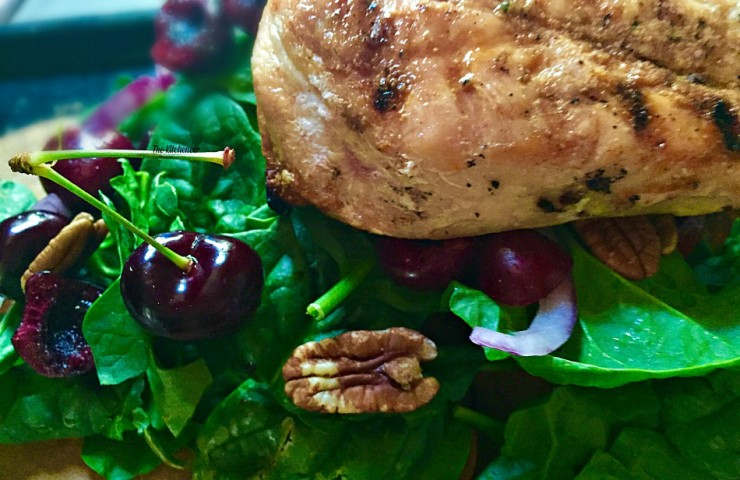 Grilled Chicken Cherry Salad