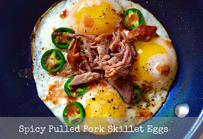 Spicy Pulled Pork Skillet Eggs