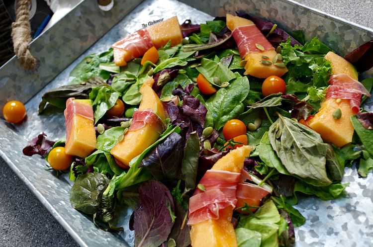 Proscuitto-Wrapped- Melon-Salad