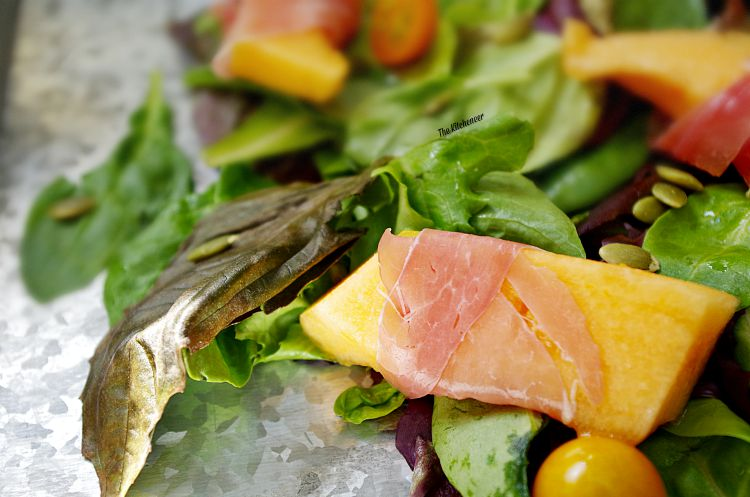 Prosciutto-Wrapped- Melon-Salad