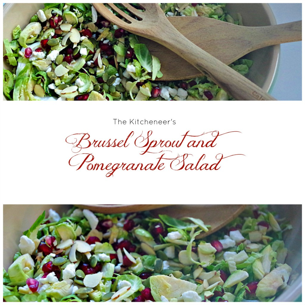 Brussel Sprout and pomegranate salad
