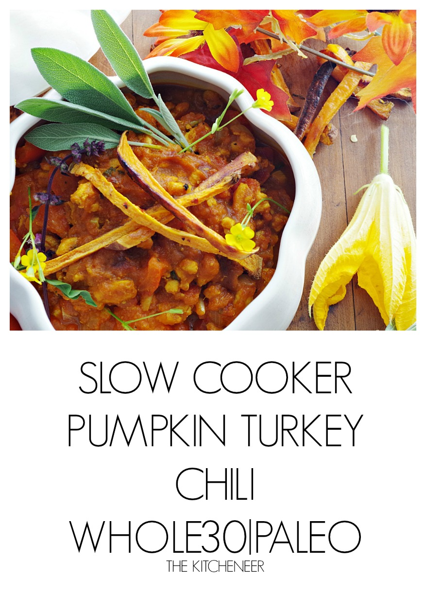 Slow Cooker Pumpkin Turkey Chili