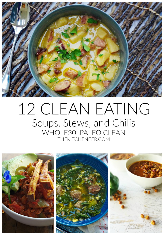 12 Clean Eating Soups, Stews, ans Chilis to make the New Year your healthiest one yet! We love having these all year round! |thekitcheneer.com