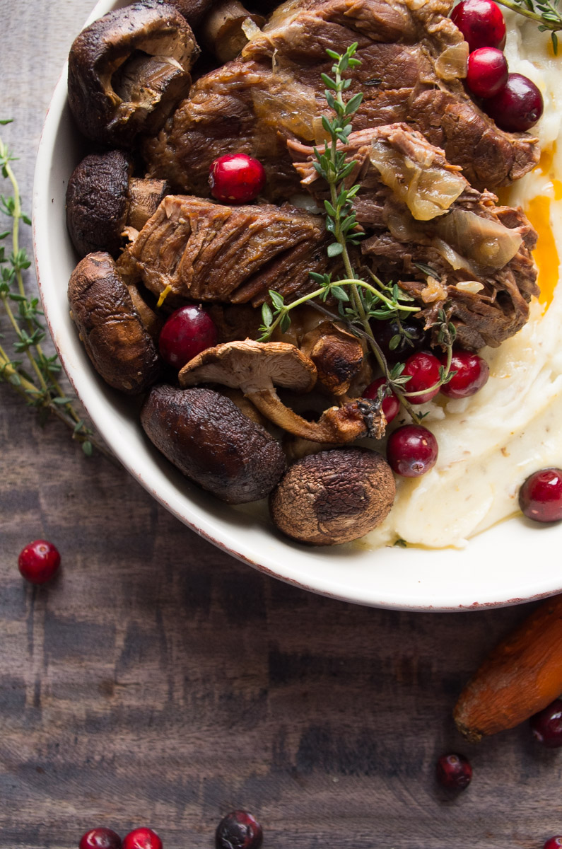 Instant Pot Cranberry Pot Roast-a Paleo holiday recipe that takes 45 minutes to make?! YES PLEASE! We LOVE serving this to our family and friends every year! | thekitcheneer.com