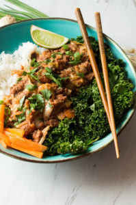 Slow Cooker Filipino Style Picadillo- a Whole30 slow cooker bison recipe that requires no effort and all you need to do is add everything to the pot and walk away! It's packed with lean bison meat, Filipino flavors, and will become your family's go to weeknight meal! Easy peasy! thekitcheneer.com