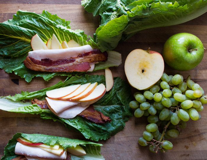 Whole30 Turkey Apple Club Lettuce Wraps- the easy cold lunch recipe for when you are on a Whole30 or just want an awesome lunch. Turkey, apples, and bacon all wrapped in lettuce. YUM|thekitcheneer.com