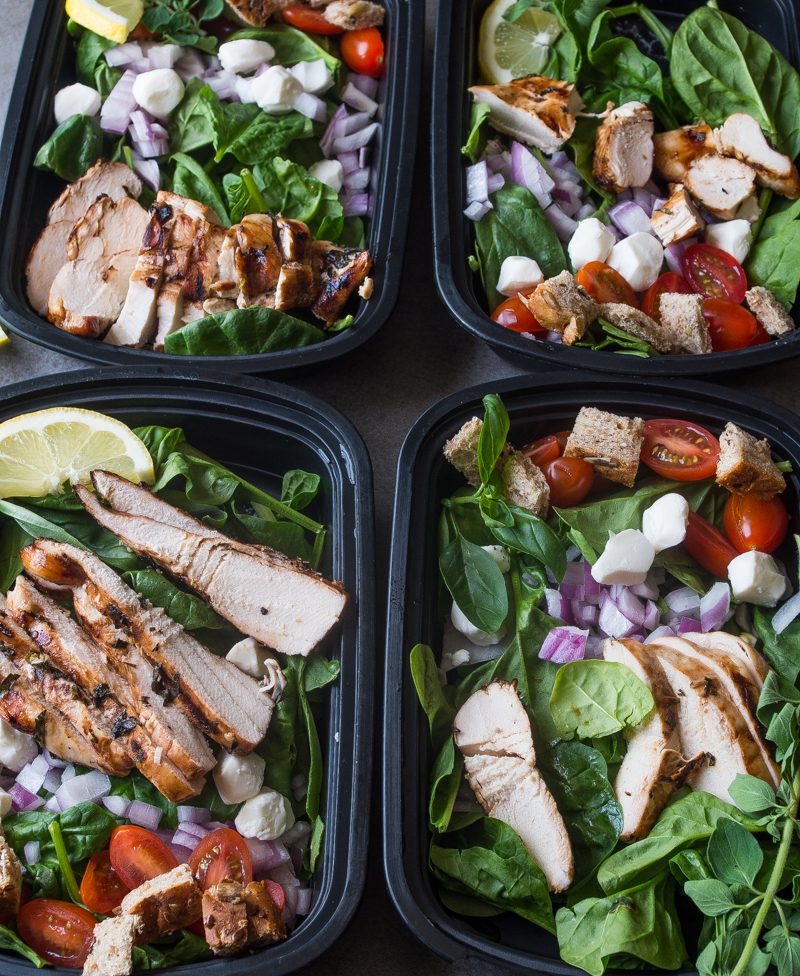 Caprese Chicken Meal Prep Bowls- perfect for Sunday Meal Prep!|thekitcheneer.com