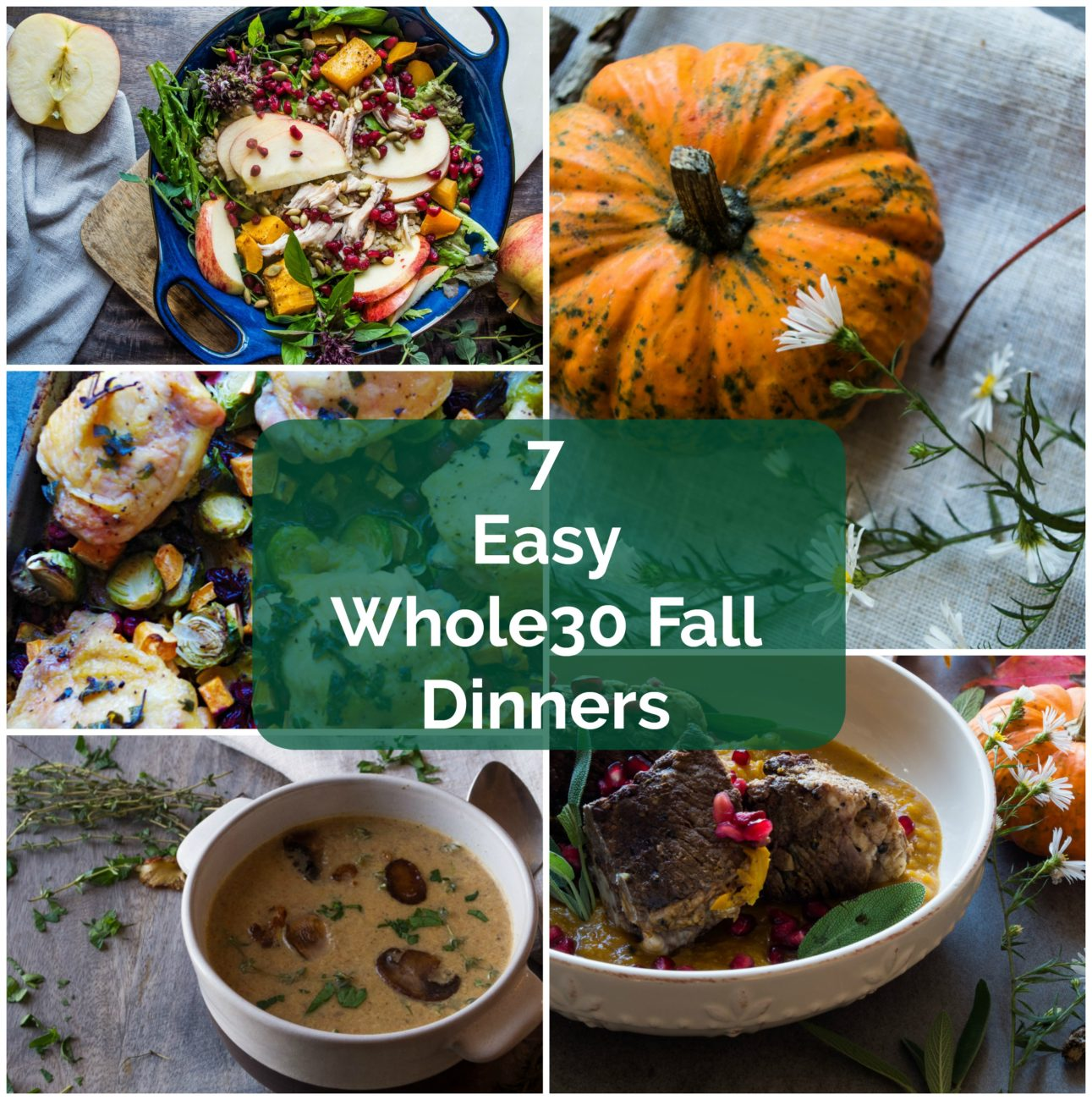7 Easy Whole30 Fall DInners- super easy and simple Whole30 fall recipes perfect for a quick weeknight dinner!|thekitcheneer.com