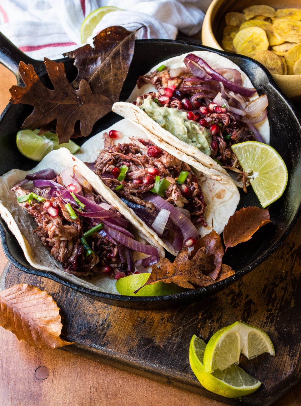 Cranberry BBQ Pulled Turkey Tacos