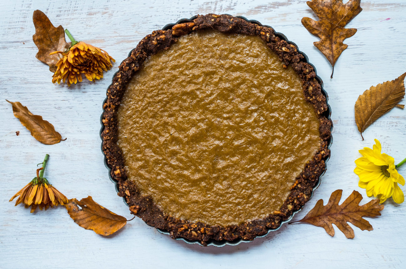 No Bake Paleo Pumpkin Pie|thekitcheneer.com