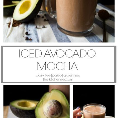 Iced Avocado Mocha- Basically your new favorite iced coffee recipe for this summer! Creamy superfood avocado is blended with cocoa and espresso to give you a creamy delectable coffee with an extra hit of caffiene!|thekitchenner.com