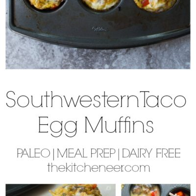 Southwestern Taco Egg Muffins- a protein packed paleo recipe that makes meal prep a snap in 30 minutes for a delicious wholesome breakfast!