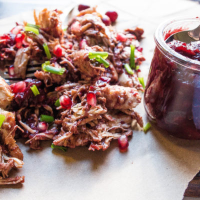 Cranberry BBQ Pulled Turkey- PERFECT for Thanksgiving leftovers! thekitcheneer.com