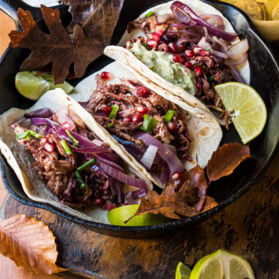 Cranberry BBQ Pulled Turkey Tacos- perfect for Thanksgiving leftover turkey! thekitcheneer.com